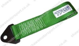 TRS Tow Eye Loop Strap Racing Track Car Rally Green