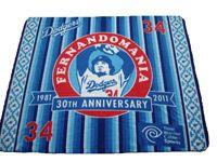 LA Dodgers Fernandomania Fernando Valenzuela Fleece Blanket SGA