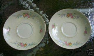Vtg Homer Laughlin Eggshell Nautilus FERNDALE SAUCERS China Dinnerware