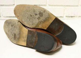 Salvatore Ferragamo Mens Double Monk Strap Shoes Oxford Cap Toe Paris