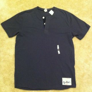 NWT Very Rare Discontinued Ezra Fitch Two button Dark Blue shirt Size