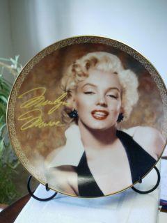 Bradford Exchange Marilyn Monroe Collector Plate Bewitching in Black