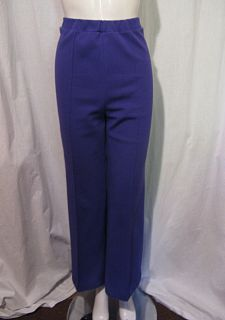 Fab VTG 60s 70s Purple Polyester Knit Wide Leg Pants PYKETTES