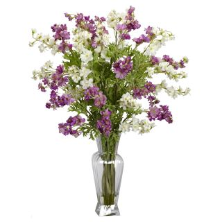 Artificial Silk White Purple Dancing Daisy Flower Arrangement