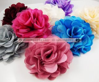 Pic Silk Flower Brooch Hair Pins Clips Accessory New