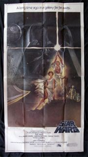 Star Wars Movie Poster 3 Sheet 1977