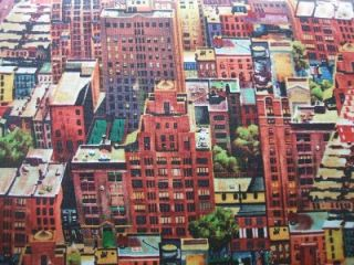 City Scape Skyscraper Building Quilting Treasure Fabric