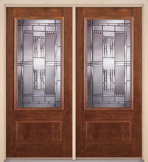 Fiberglass exterior stylish front entry door double door for Exterior door brands