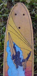 Vintage Fiberglass Hang Ten Sport Board Skateboard