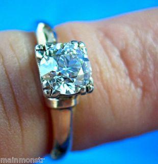 1920s Estate Art Deco Designer Diamond Engagement Ring Vintage Antique