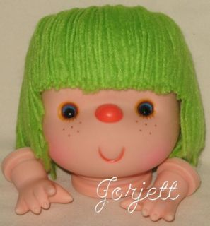 Lime Green 4 1 4 Yarn Doll Head Hands Set Fibre Craft