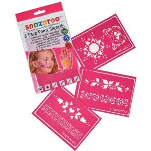 SNAZAROO  Assorted Face Paint Stencils   GIRL  PACK OF 6