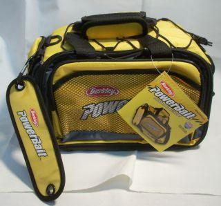 Berkley Powerbait Soft Sided Fishing Tackle Box Storage Bag Yellow