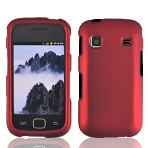 Red Faceplate Hard Shell Cover Phone Case for Samsung Repp R680 SCH