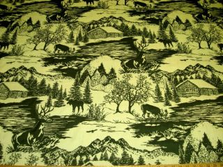 10 yd Moose Hunting Lodge Upholstery Fabric r7753