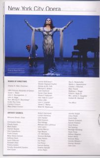 Prima Donna Opera Playbill Color Ad Flyer Rufus Wainwright Mint