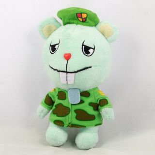 Happy Tree Friends Flippy Green Plush Stuffed Doll Ball Chain 7 17cm