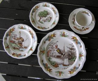 Spode China Dinnerware Fair Haven CT Nautical 12 Place Sets 4 Serving