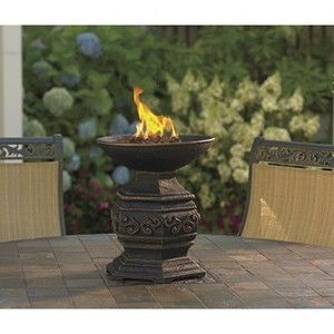OUTDOOR TABLE FIRE URN GAS PROPANE PATIO DECK FIRE PIT fireplace