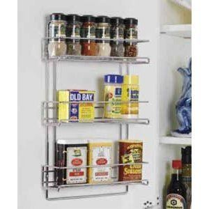 Organize It All 3 Tier Wall Mounted Spice Rack Storage Holder
