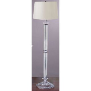 NEW 1 Light Floor Lamp Lighting, Satin Nickel with Clear Glass, Faux