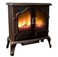 Antique Electric Portable Fireplace Stove Heater Free Standing Fan