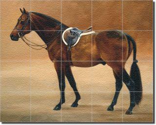 Crawford Bay Horse Animal Glass Tile Floor Mural Art