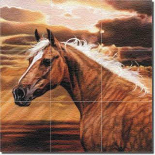 McElroy Horse Equine Wall Floor Glass Tile Mural Art