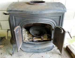 Wood coal cast iron 216 stove early foundry dickson city pa for Whole house wood furnace