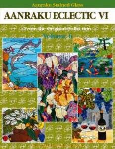 Stained Glass Supplies AANRAKU Eclectic 6 Pattern Book