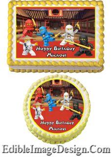 Ninjago 1 Edible Birthday Cake Party Image Cupcake Topper Favor Lego