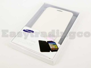 Flip Cover Case for Samsung Galaxy Note i9220 GT N7000 White