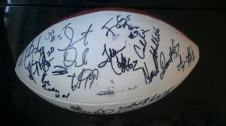 2008 Alabama Crimson Roll Tide Team Signed Sugar Bowl Football
