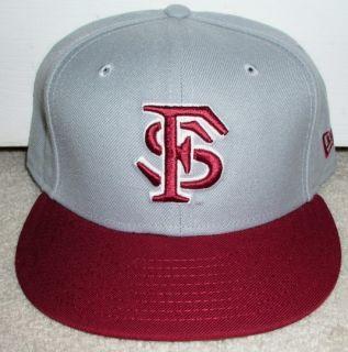 FLORIDA STATE SEMINOLES NEW ERA FITTED HAT 7 3 4 FSU NCAA GREY