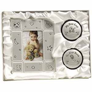 Baby Girl Boy First Frame Curl Tooth Keepsake Gift