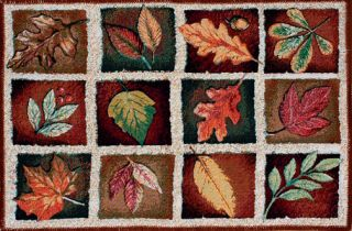 Autumn Reflections Fall Leaves Tapestry Accent Rug