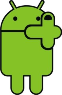 Funny Android Middle Finger Car Wall lapto Computer Sticker Vinyl