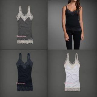 Abercrombie Womens Fallon Fasion Top Tank Lace Blouse s M L Authentic