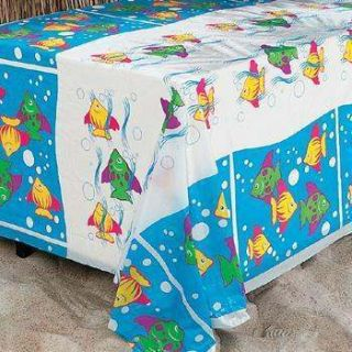 Fish Table Cover Hawaiian Luau Birthday Party Decorations