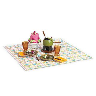 American Girl Julie Fondue Set