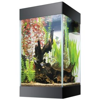 AQUEON 15 GALLON COLUMN TROPICAL FISH TANK AQUARIUM W/STAND