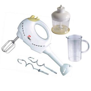 Speed Hand Mixer Egg Beater w Beaker Blender Chopper