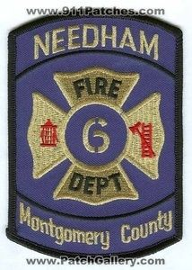 Fire Department Dept FD 6 Montgomery County Patch Texas TX Patches