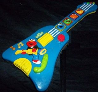 1998 TYCO Sesame Street Elmos Rock & Roll Guitar Music Lights Special