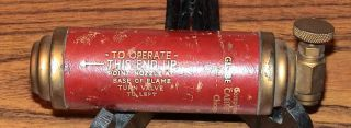 Mini Brass Presto CB Fire Extinguisher Globe Cabinet Co Company Empty