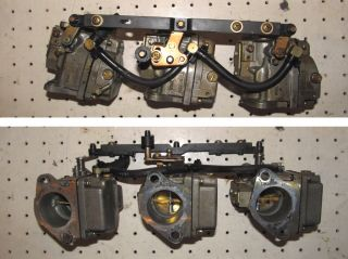 Carburetors Mercury Mariner 70 90 hp 3 Cyl Outboards 1988 1990