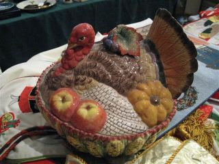 Fitz Floyd Turkey Casserole Serving Dish