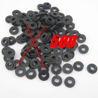 Black Plastic Shoulder Washers For Tattoo Machine Gun Supply PSW 500