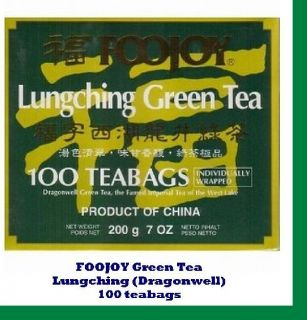 Foojoy Lungching Dragonwell Green Tea 100 Bags Health Weight Loss Anti