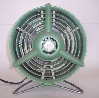 Vintage GE Fan Heater Boomerang Base Mint Green Eames Era Retro 1950s